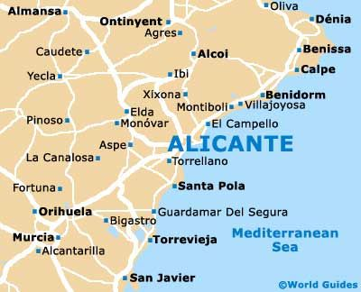 Alicante Map Of Spain.Related Image Spain Alicante Alicante Spain Cheap Holiday