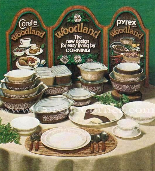 Woodland Brown 1978 Advertising for Pyrex and Corelle. | Pyrex (ia ...