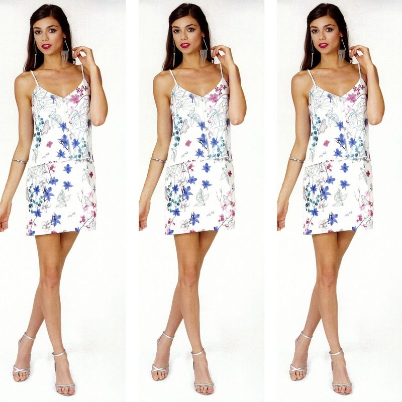 1f682926d4726 Secret Garden abito corto estivo RIBES fantasia floreale - LORCASTYLE