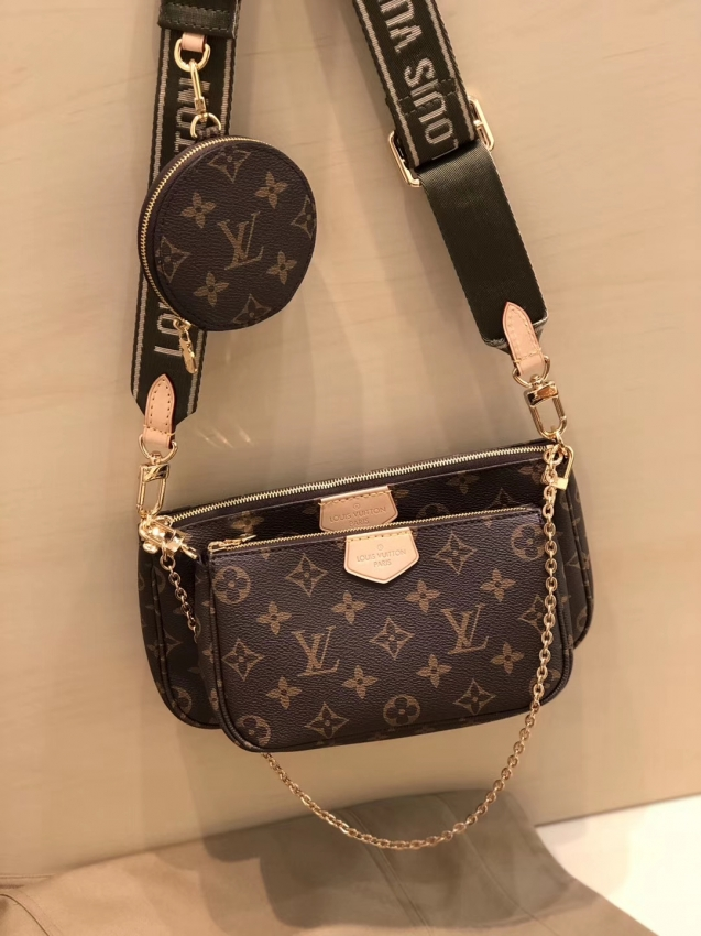 Louis Vuitton Monogram Multi Pochette Accessoires Coin Purse M44813 Khaki Louis Vuitton Louis Vuitton Designer Designer Handbags Louis Vuitton