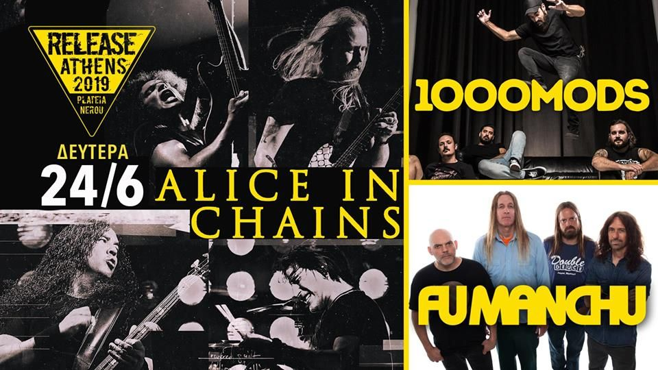 Rhythmic Horizons: Release Athens: Alice In Chains, 1000mods, Fu Manc...