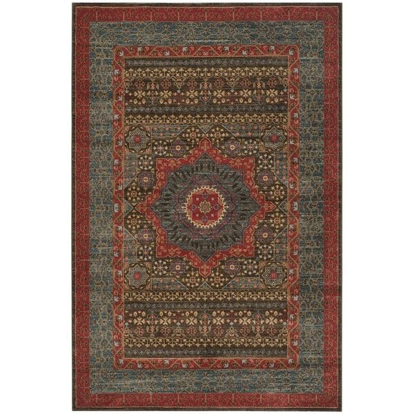 $277 Safavieh Mahal Traditional Grandeur Navy/ Red Rug (9' x 12')