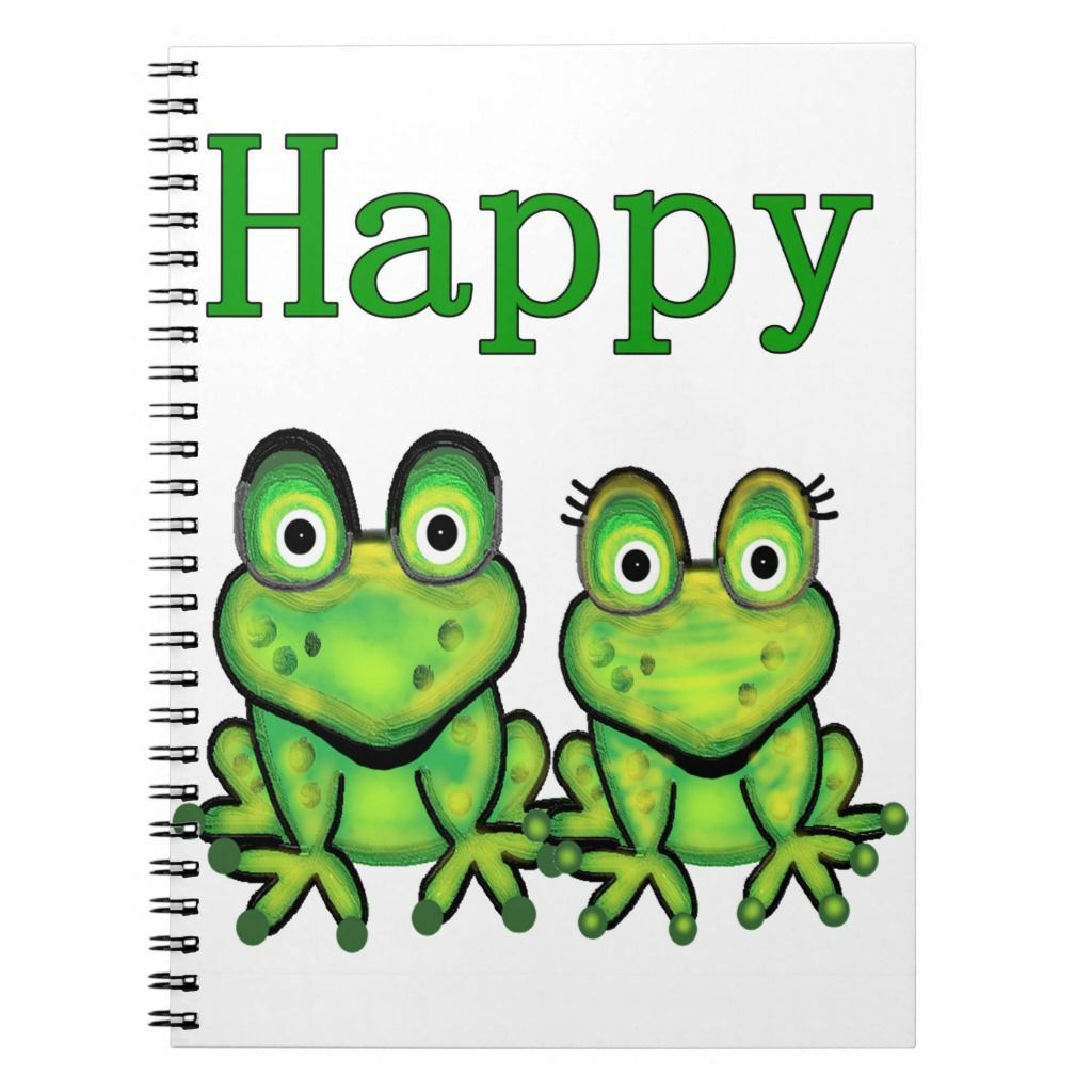 Happy Frog Funny Amphibian Cartoon Art Notebook En 2020 Humanoide