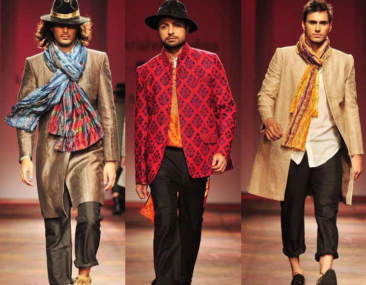 Designed By Krishna Mehta 2011 Menswear Indian Men Fashion Runway Designer Kurta Sherwani