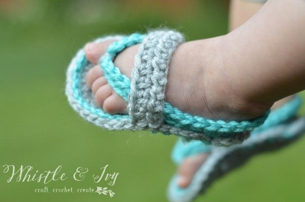Crochet Baby Strap Flip Flop Sandals Free Crochet Flipping And