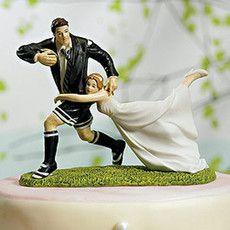 "Figurine mariage ""Au match de Rugby"""