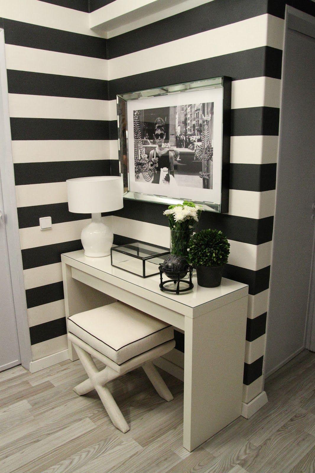 hall de entrada, decoraç u00e3o, apartamento, entrada da casa, inspiraç u00e3o, preto e branco, listrado
