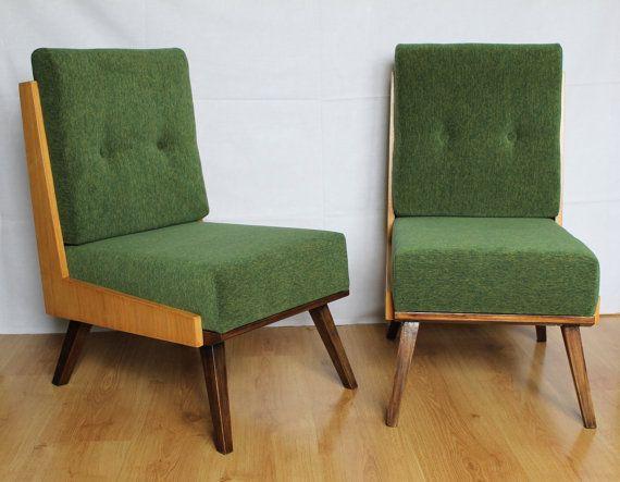 Sessel 60er jahre mid century style gr n von buasw auf for Sessel 60er design