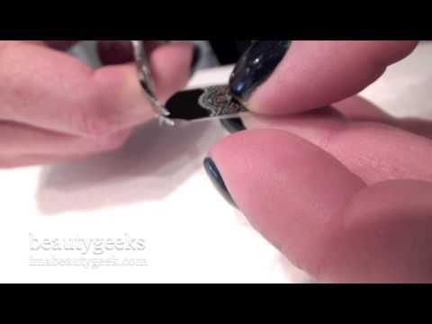 ▶ How to Apply (and remove) Revlon by Marchesa 3D nail art appliqués - YouTube