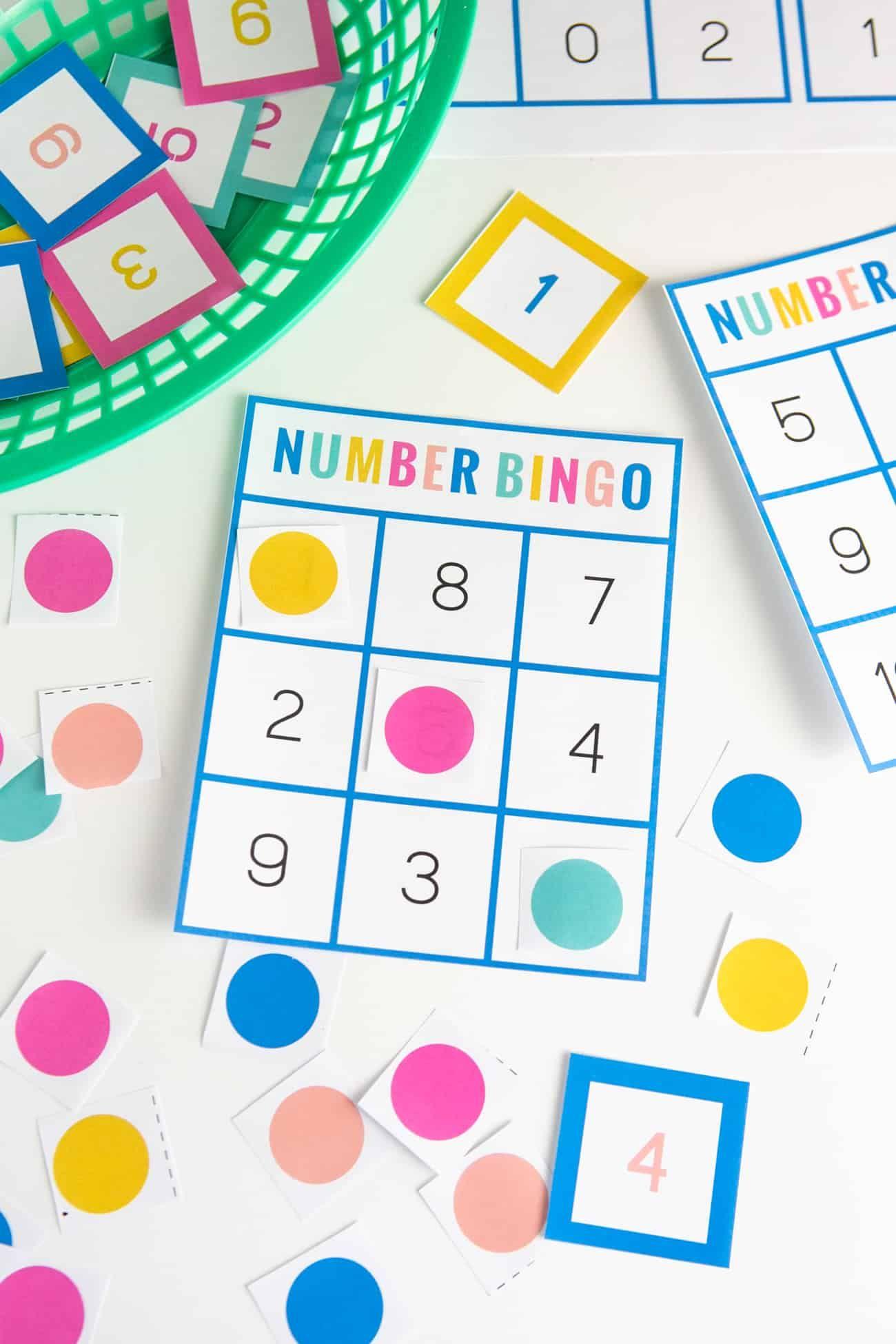 Free Printable Number Bingo