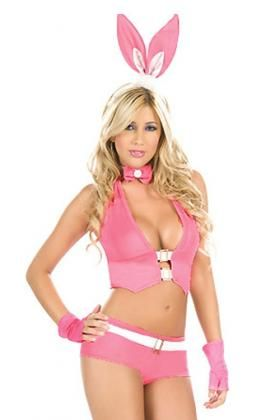 9a6916aa3 Easter Bunny Costumes for Women. Sexy Pink Bunny Girl Costume