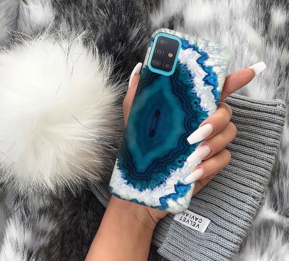 Crystal case blue crstal Note 10 lite Samsung case S9 | Etsy