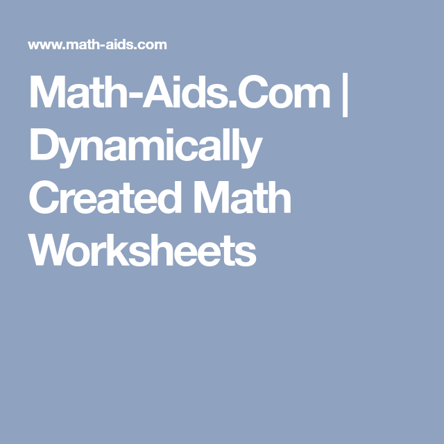 Math-Aids.Com | Dynamically Created Math Worksheets Division Word ...