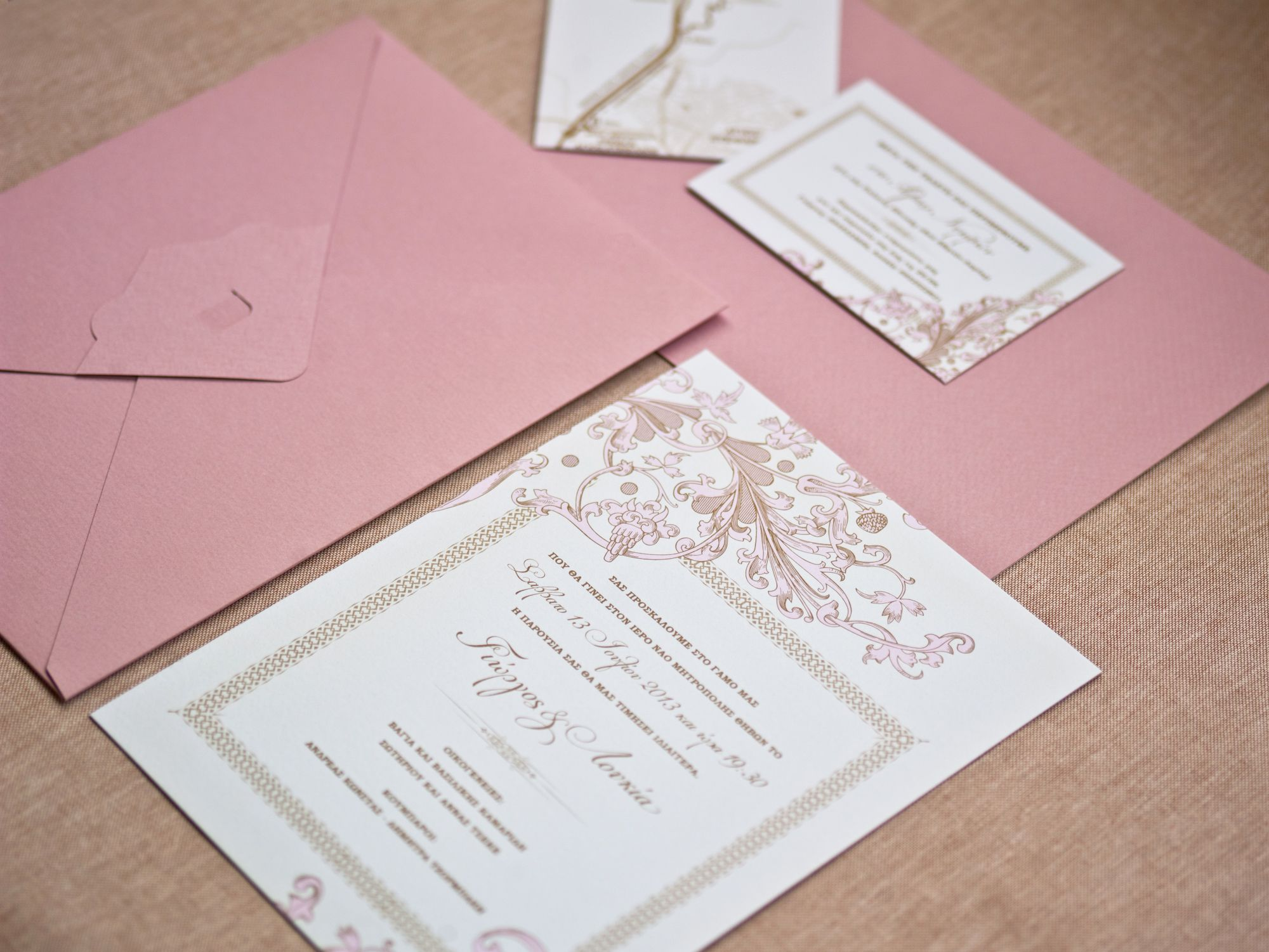 French chic | elegant wedding invitation | Design: Atelier ...