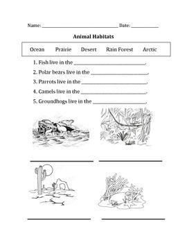 animal habitats teacher activities animal habitats habitats animals. Black Bedroom Furniture Sets. Home Design Ideas