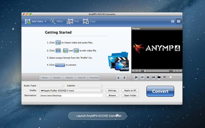 Mac App AnyMP4 AVCHD Converter Developer Tools Video 4