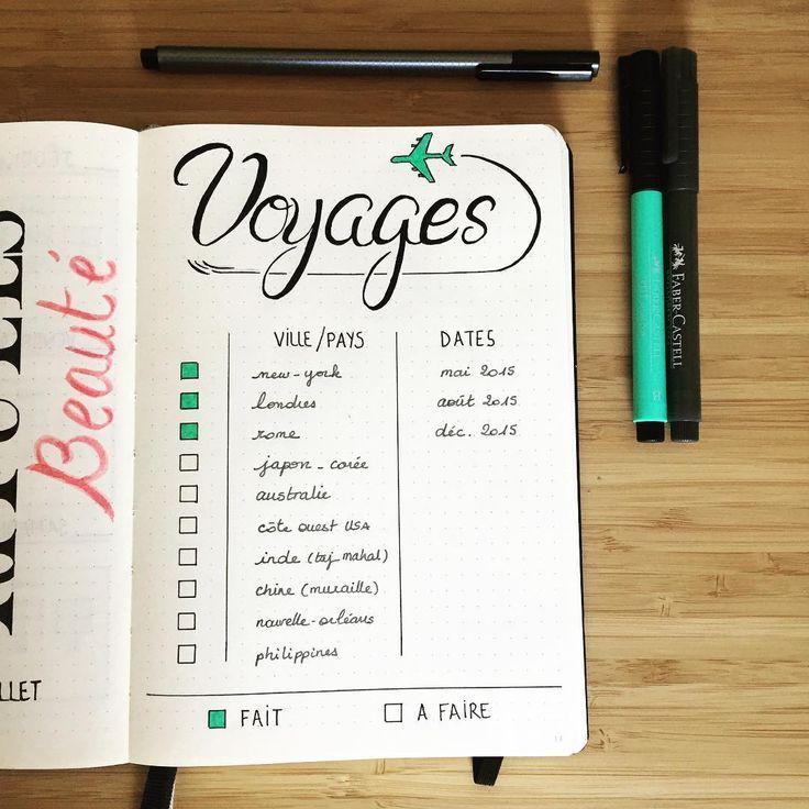 Préparer vos futurs voyages grâce à votre bullet journal !,  #bullet #futurs #grâce #journal #prépar...