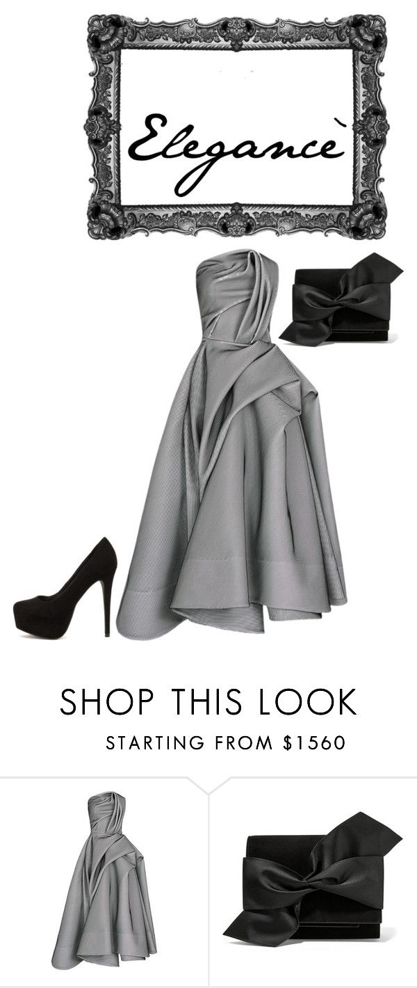 """Elegancè"" by martharosauli ❤ liked on Polyvore featuring Victoria Beckham and Nly Shoes"