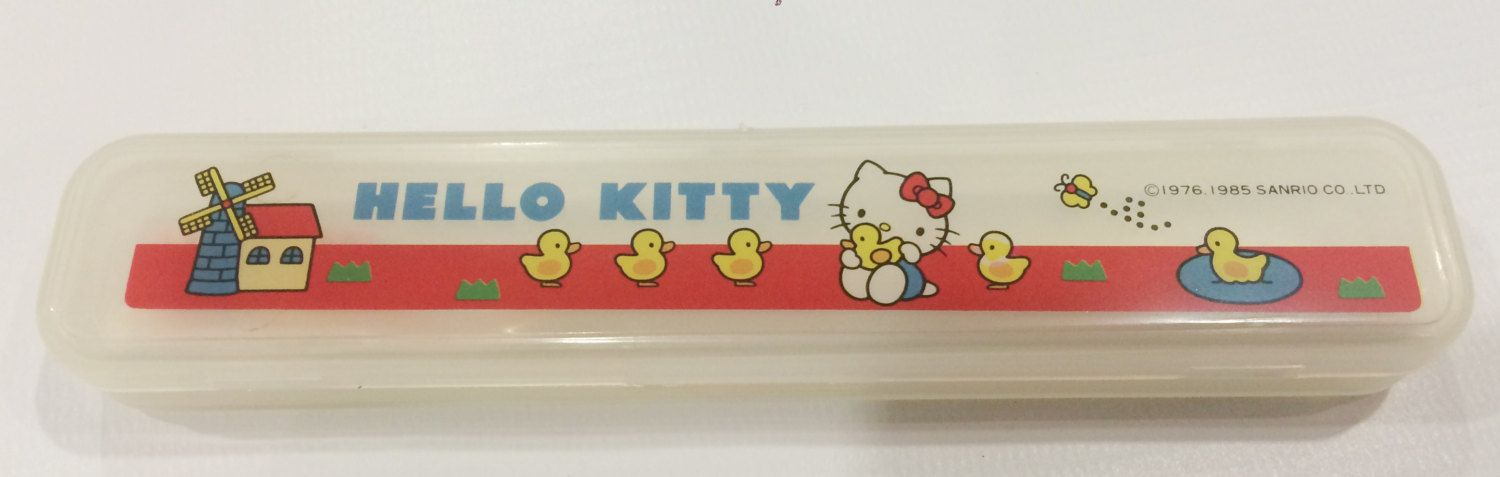 f4c22a23cab8 Vintage Hello Kitty tooth brush Sanrio made in Japan by TownOfMemories on  Etsy