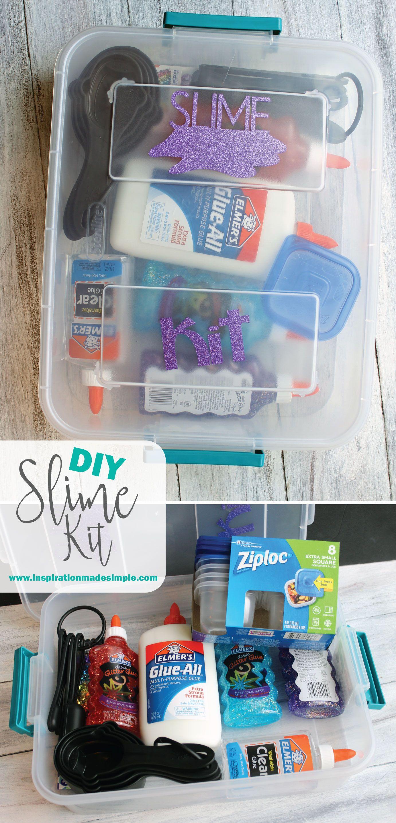 Diy Slime Kit Craft Ideas Slime Kit Diy Christmas Gifts For