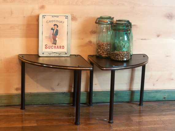 Old tripod coffee tables - Vintage end tables in formica - French ...