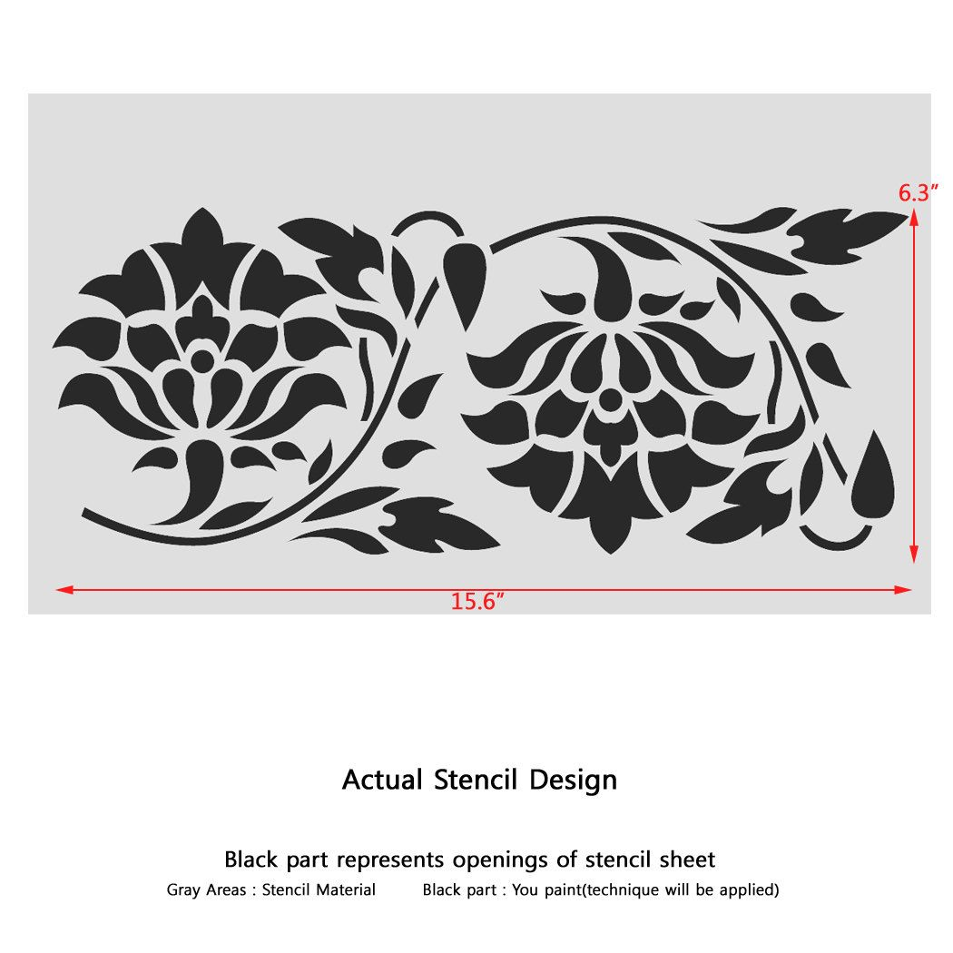 Wall Border Stencils Pattern 011 Reusable Template For Diy Etsy Stencil Pattern Stencils Wall Stencils
