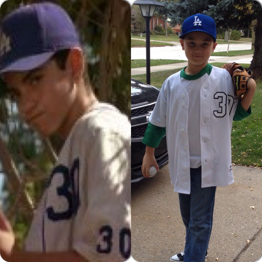 my son gabe as benny the jet rodriguez i made his costume