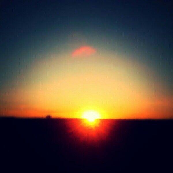 Sunset at school!!