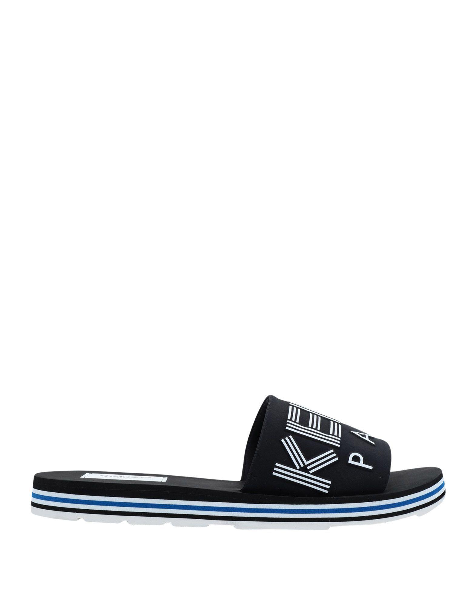 Kenzo Black Synthetic Fibers Sandals