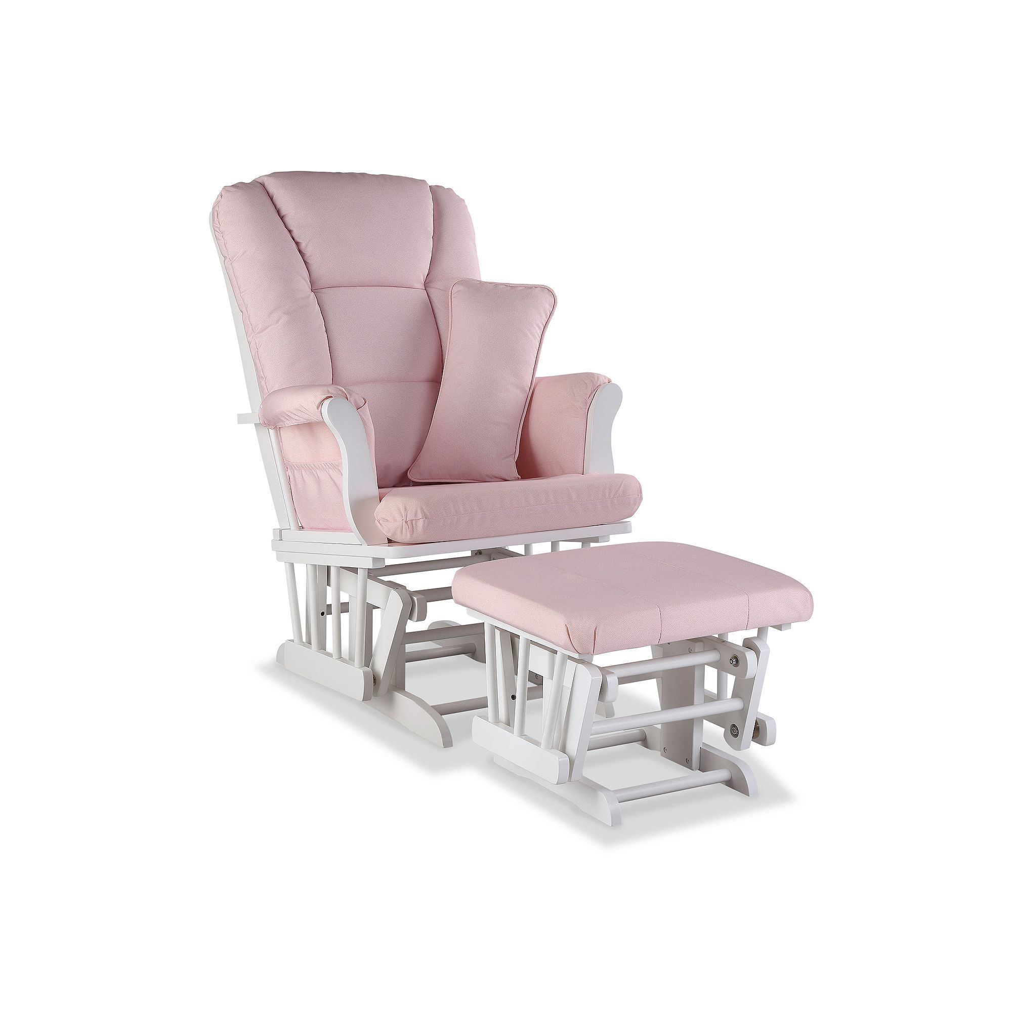 Stork Craft Tuscany Custom Glider Chair And Ottoman Set, Pink