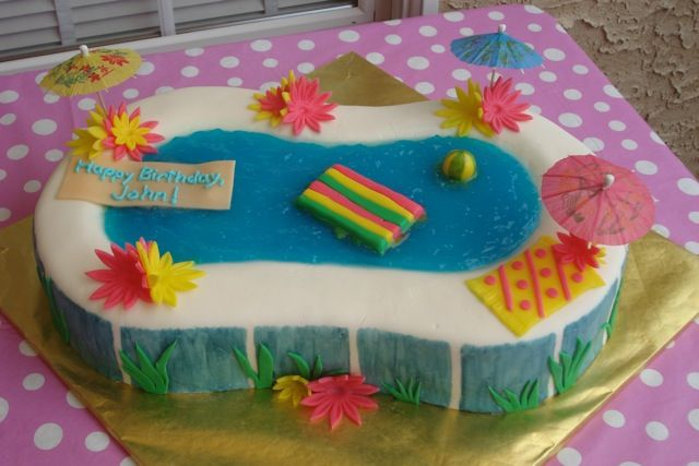 Birthday Cake Ideas For A Pool Party : pool+cakes+ideas Children s Birthday Cakes ,from: Cakes ...