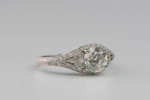 Hand Crafted Single Stone Wedding Ring Wedding Rings Engagement Wedding Rings Single Stone