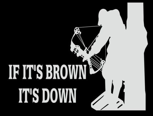 If Its Brown Its Down Bow Hunting Decal X For Cars Trucks - Bow hunting decals for trucks
