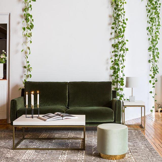 Surprising Keira Green Velvet Ottoman In 2019 Our Dreams Home Decor Machost Co Dining Chair Design Ideas Machostcouk