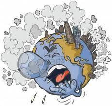 La Tierra Esta Enferma De Tanta Basura La Tierra Dibujo Dibujos Contaminacion Atmosferica