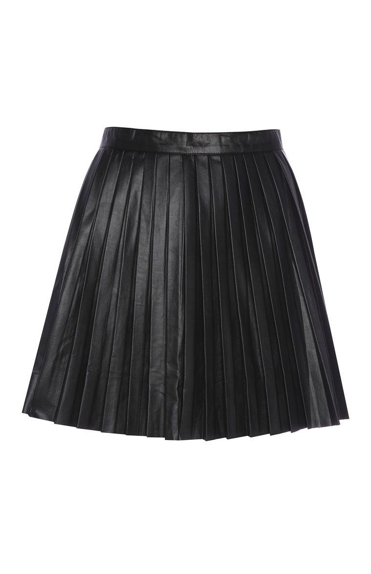 fa4b647c6 Primark - Minifalda plisada negra de polipiel | wishlist in 2019 ...