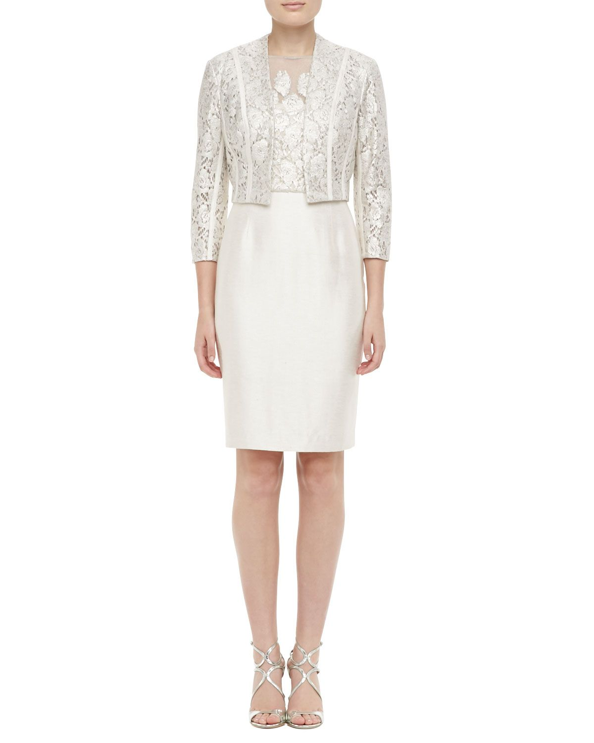 Kay unger new york 34 sleeve lace bolero lace cocktail dress kay unger new york lace bolero lace cocktail dress neiman marcus ombrellifo Image collections