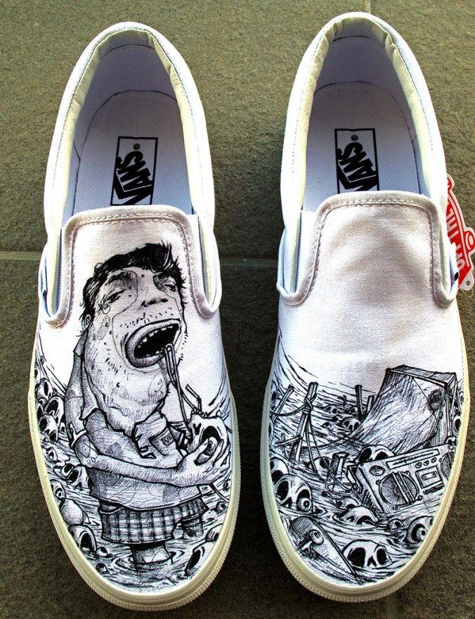 NICOLAS THOMAS VANS + POSCA Art Shoes 9305b0979