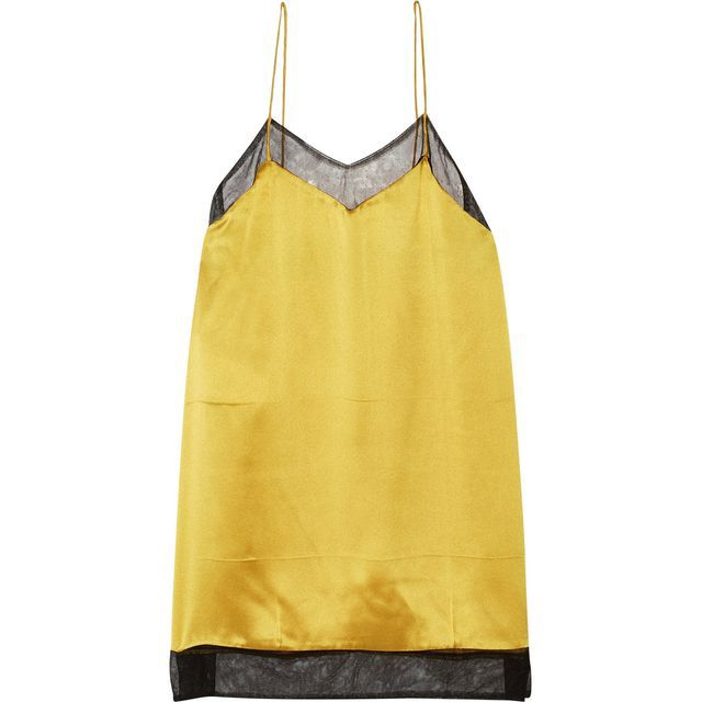 Check out this product: Gucci Mesh-Trimmed Silk-Satin Camisole, Gold #villoid