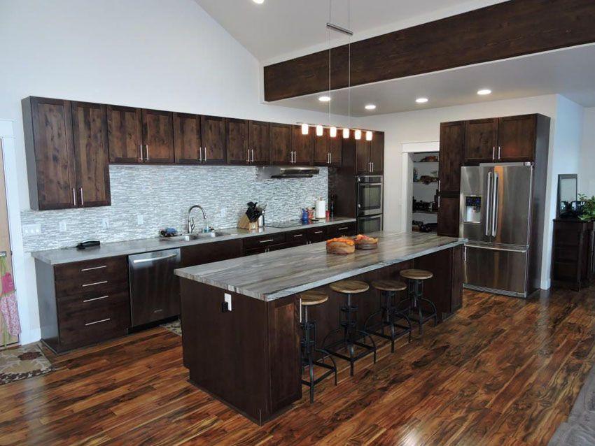 35 Luxury Kitchens With Dark Cabinets Design Ideas Wood Floor