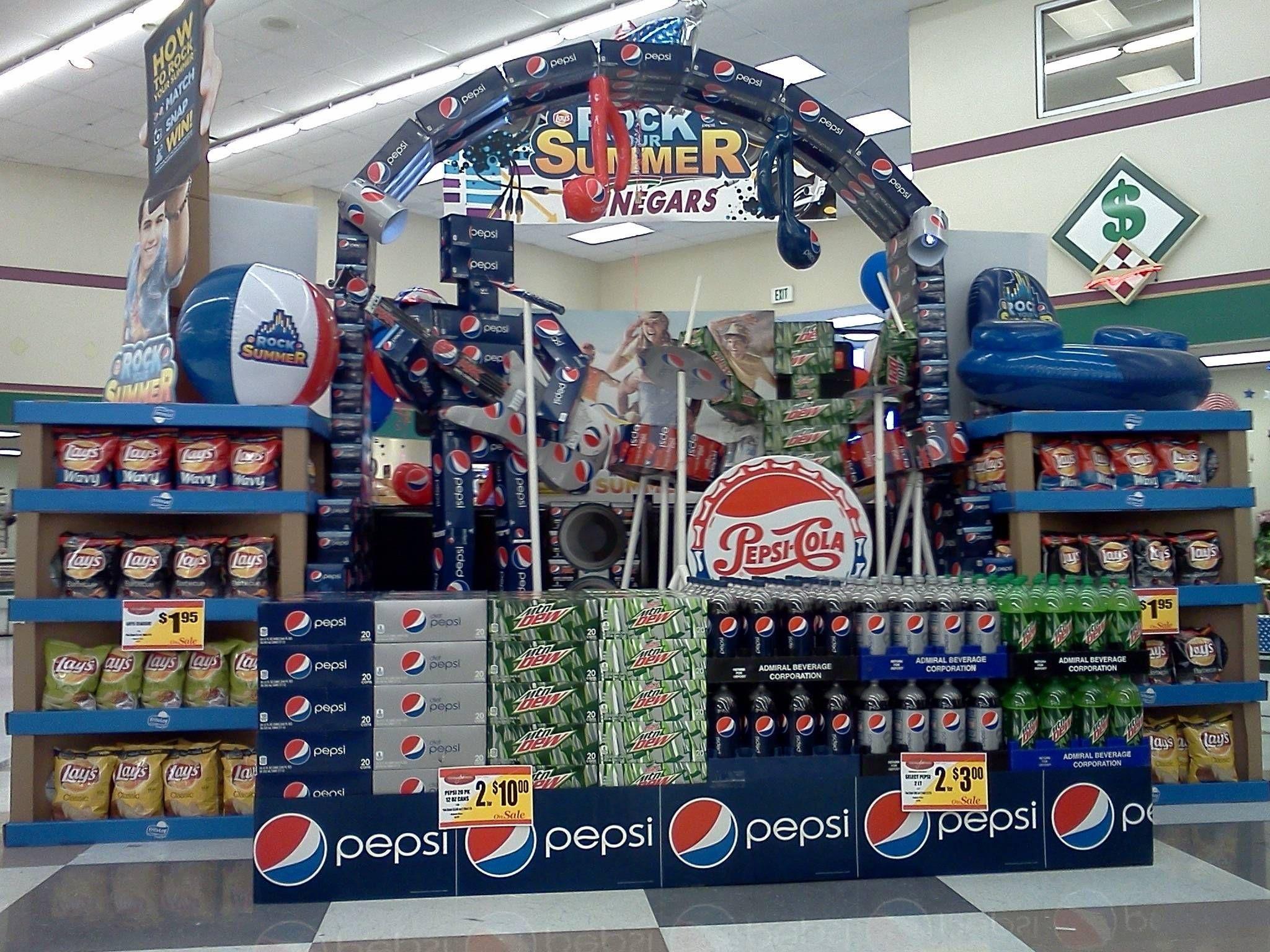 Grocery store Pepsi display | Pepsi