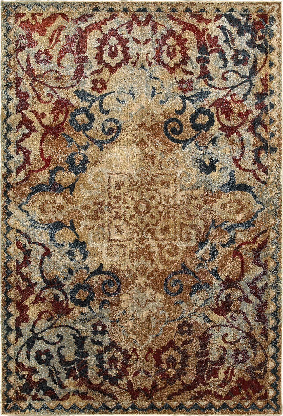 Oriental Weavers Empire 021j4 Gold Red Area Rug Area Rugs Oriental Weavers Red Area Rug