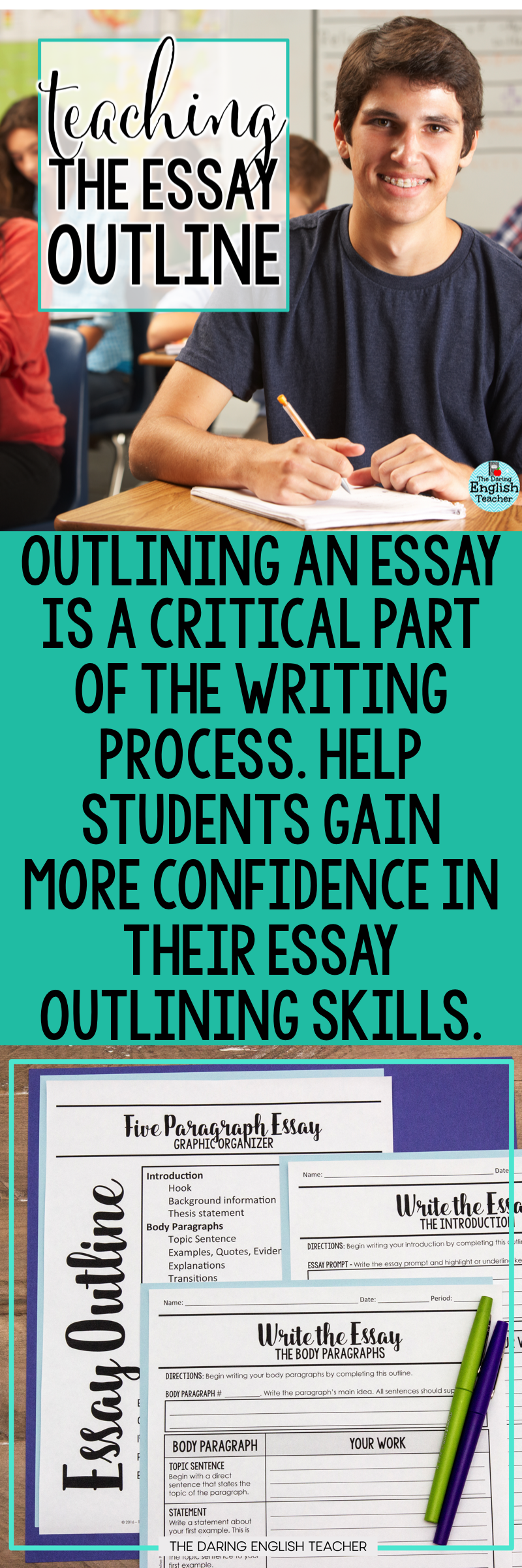 What Is A Thesis Of An Essay Teach Students How To Outline Their Essays High School Writing Middle School  Writing Essay On Science And Society also Examples Of A Thesis Statement In An Essay Teach Students How To Outline Their Essays High School Writing  Business Studies Essays