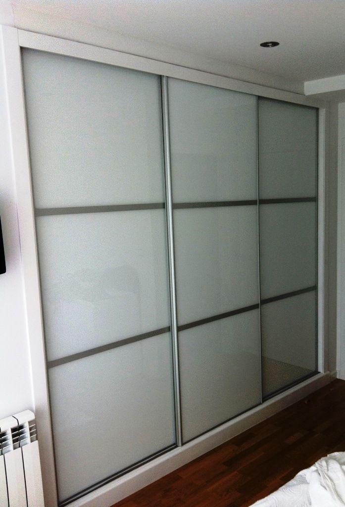 puertas correderas cristal lacobel blanco