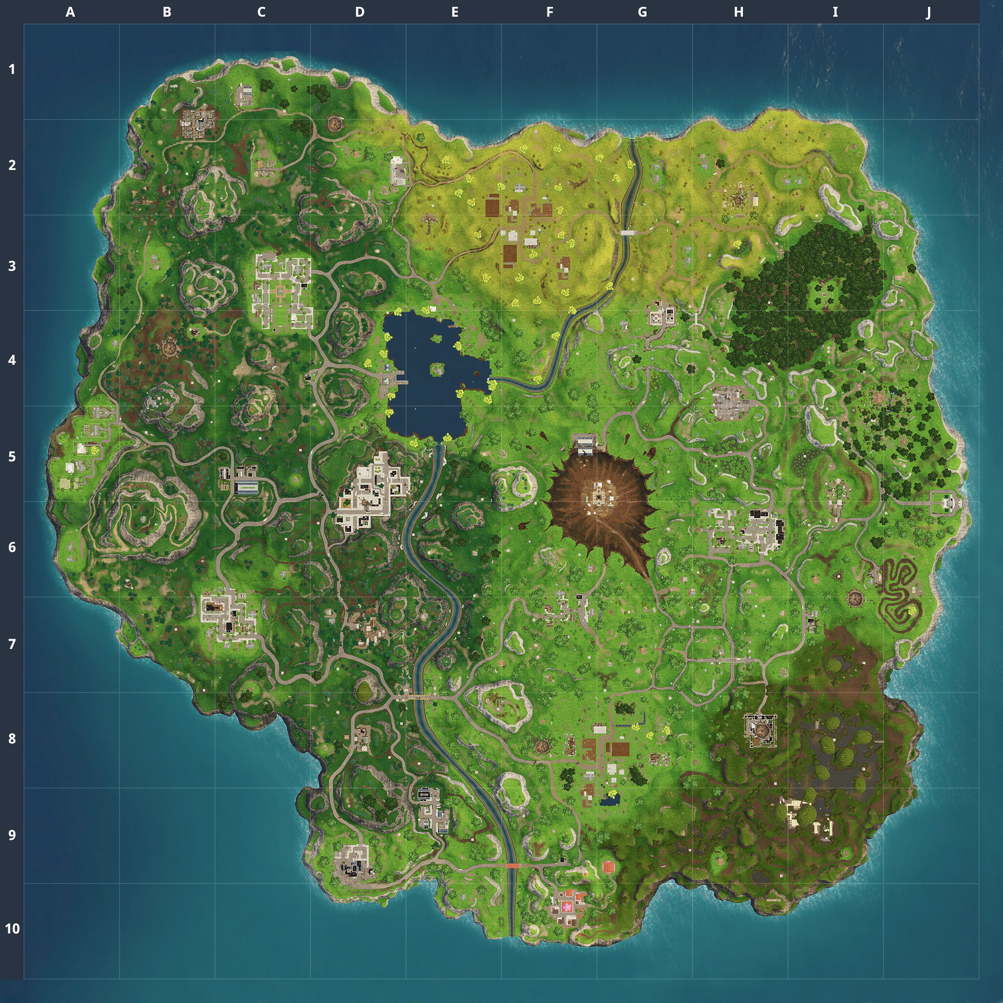 Fortnite Battle Royale Map Chest Spawn Locations My Board