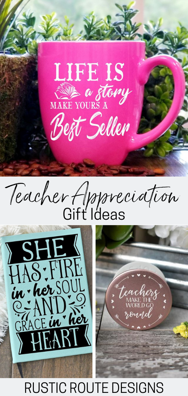 Teachers Appreciation Time Is Here Find Perfect Personalized Gift Ideas For Her Or Him From Cu Teacher Appreciation Gifts Teacher Favorite Things Best Gifts
