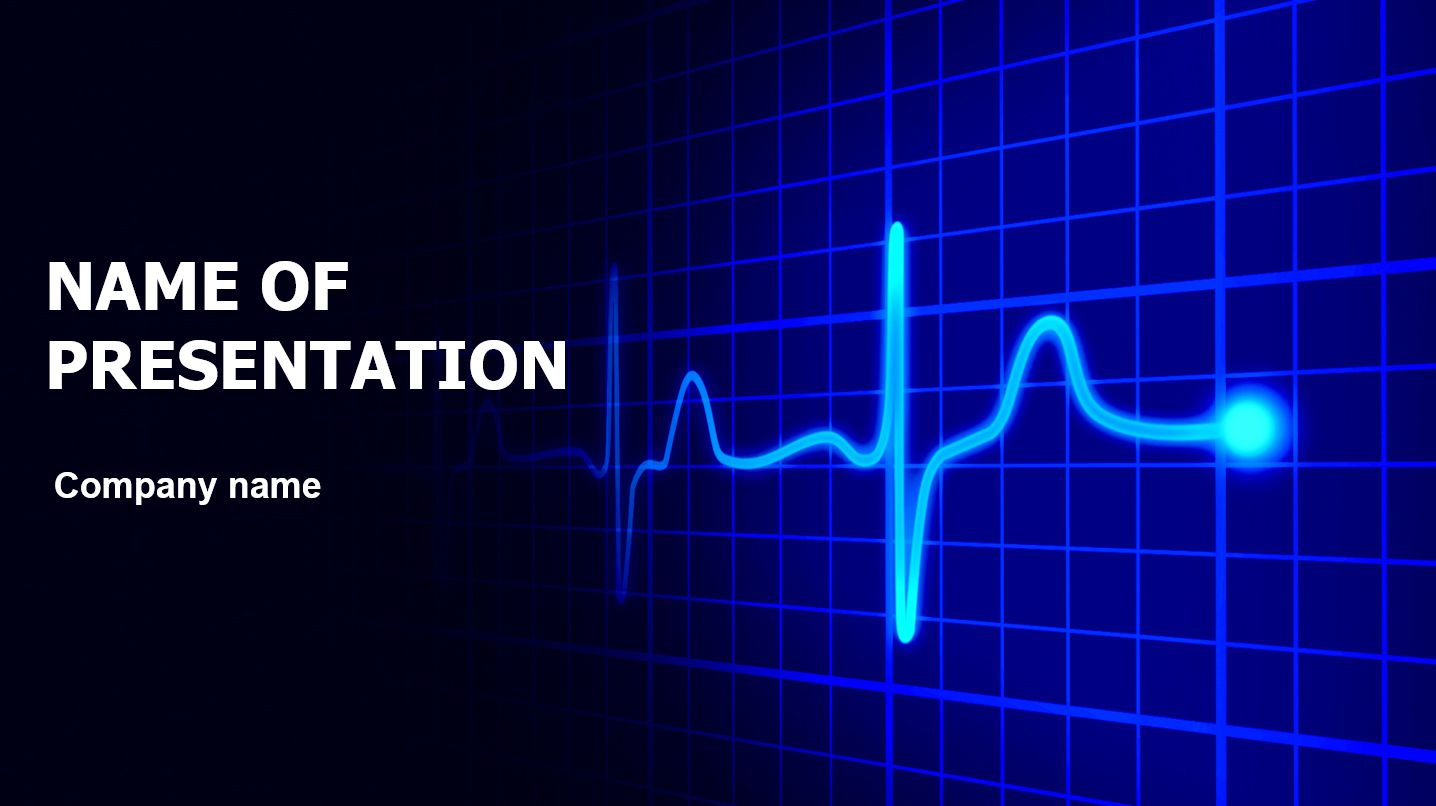 Heart Cardiogram Powerpoint Template And Theme This