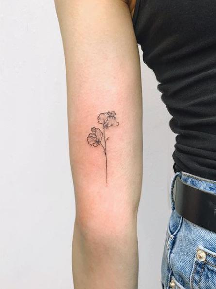Pin by Gemma Brooks on small forearm tattoos in 2020 | Wildflower tatt