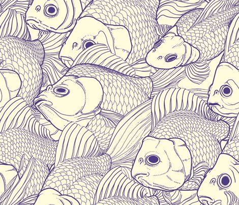 Goldfish print - great for a chair in a holiday home by the sea #HeritageUpholstery