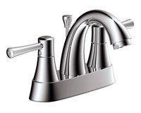 Estora 105-62537 Centerset Bathroom Sink Faucet - Pop-Up Drain Assembly Included Chrome Faucet Lavatory Double Handle